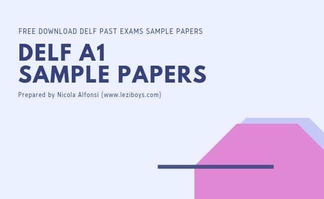 Delf A1 Sample Papers Download - #delf #A1 Past #Exam