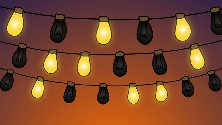 Flashing String Lights Animation For Social Media - When you have a site or idea to share, grab people's attention on social media sites with this! There are three versions of loopable videos and four versions of animated GIF images looped.