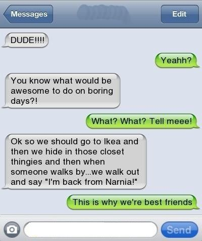sounds like something I would do with my bff if we had an Ikea here