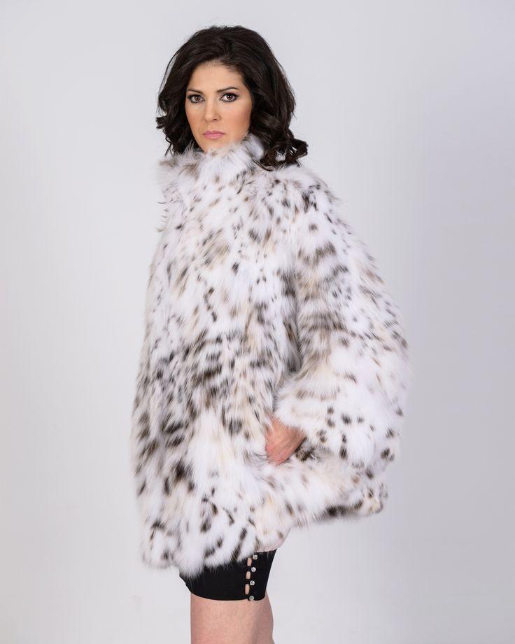 Cat lynx fur jacket, made for a true diva.