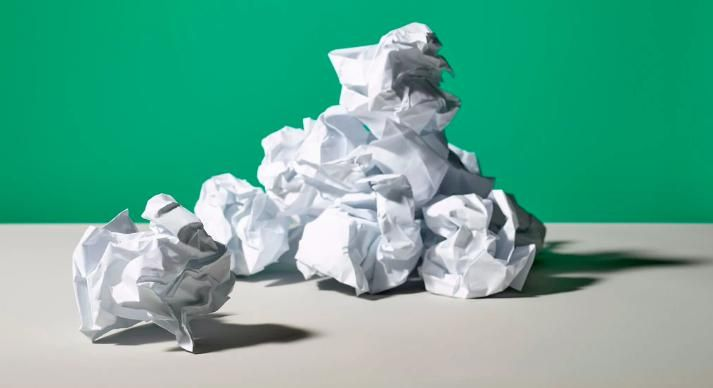 This Is The Way The Paper Crumples Published 2018 Crumpled Paper Paper Shape Change