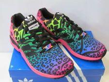 Adidas Mens-Womens Zx Flux Leopard-Rainbow Torsion Colour Running Trainers Shoes