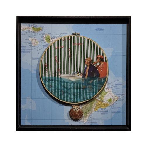"""Hello Sailor!""   www.KatelynDiGiulio.com  art, artist, embroidery hoops, toronto, #CanvasGallery.ca"