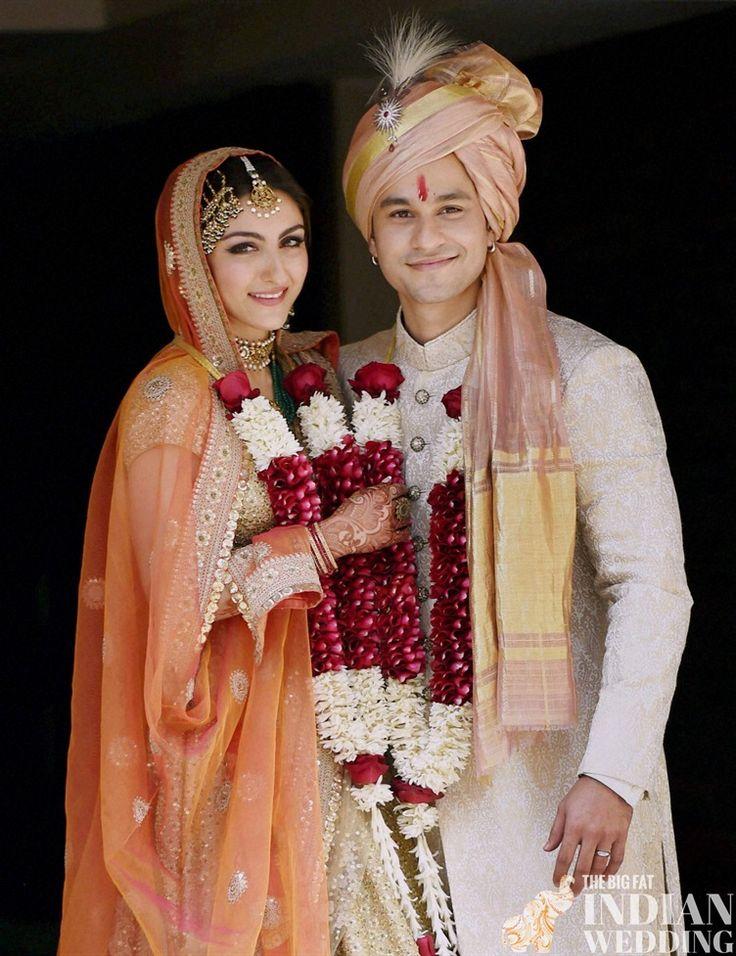 Soha Ali Khan's wedding to Kunal Kemmu   Bollywood celebrity weddings  more pics: http://thebigfatindianwedding.com/2015/soha-ali-khans-intimate-bollywood-celebrity-wedding
