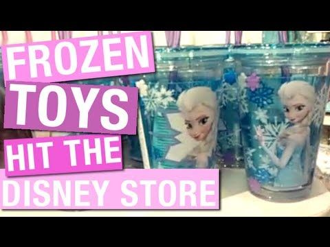 ▶ FROZEN Toys Hit The Disney Store (Frozen Friday 2) - YouTube - Disney Frozen Merchandise, Dolls