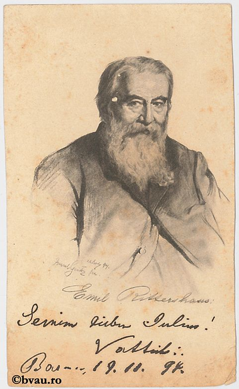 "Emil Rittershaus, 1897. Imagine din colecțiile Bibliotecii ""V.A. Urechia"" Galați."