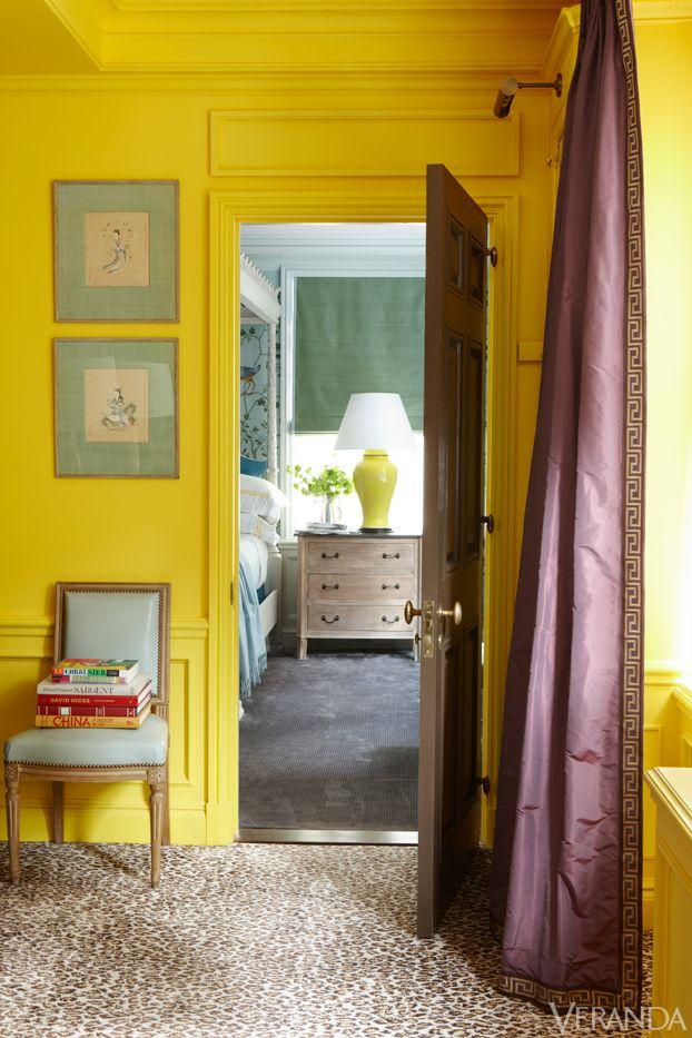 yellow + aubergine // Manhattan apartment designed by Nick Olsen.