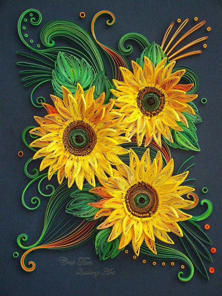 quilling sun flower