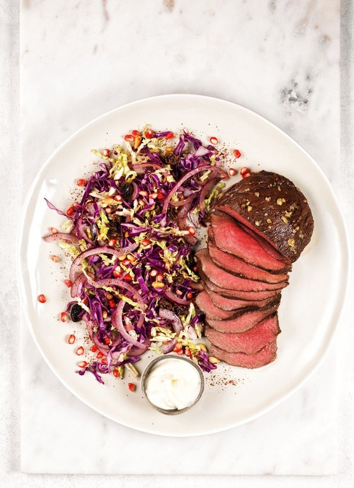 Sounds great, but made to be very fancy & over complicated. Glazed Venison Roast with Shredded Slaw | Silver Fern Farms | MiNDFOOD