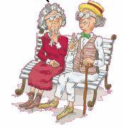 babcia i dziadek na ławce
