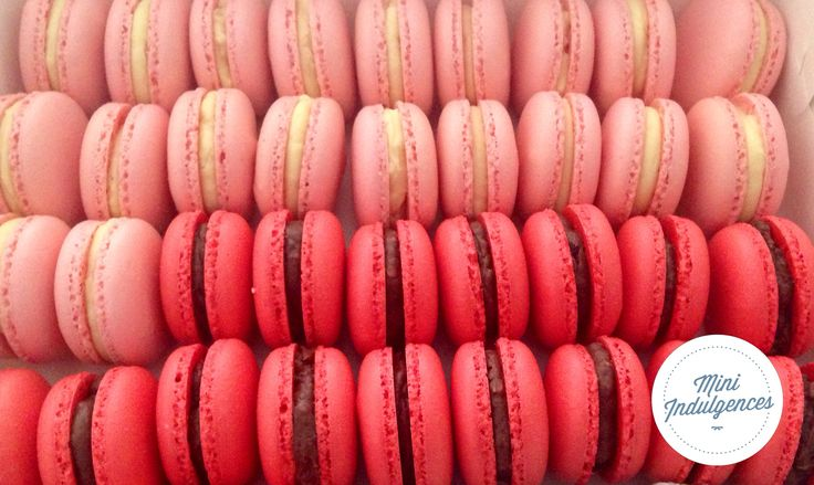 Pink ombré Macarons -cherry ripe and white chocolate flavour
