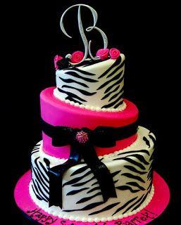 Pastel Zebra Pink #Cakes #Pasteles y #Cupcakes para #Bodas y #15Años #Fondant #wedding #quinceanera | DaVinci http://bit.ly/1v3zvMi