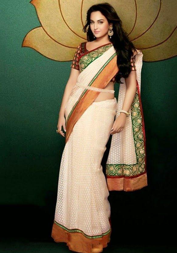 Sonakshi Sinha Latest Stills in Beautiful Saree - Tollywood Stars