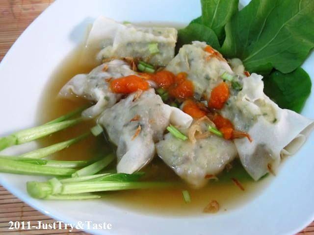 Pangsit Kuah Isi Daging Ayam & Sayuran