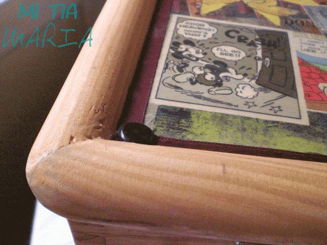 Mi tia María: La Mari tuneadora: Tutorial decoupage en bandeja con patas DIY