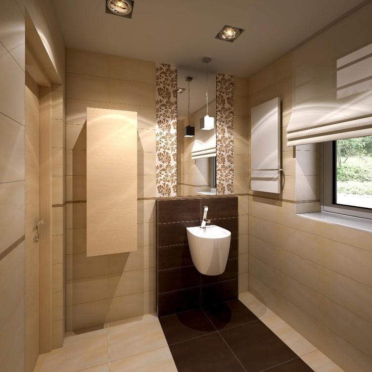 łazienka dla gości (glazura Botanic Stone Tubądzin)