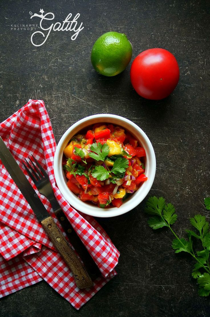 Kulinarne przygody Gatity - przepisy pełne smaku: Salsa z mango