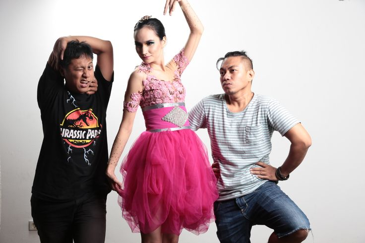 Photoshoot team for desember issue. Aditya wardhana as photographer, Usmanova Ilmira as a model, Fei as make up artist and hair do, designer and also as a stylist