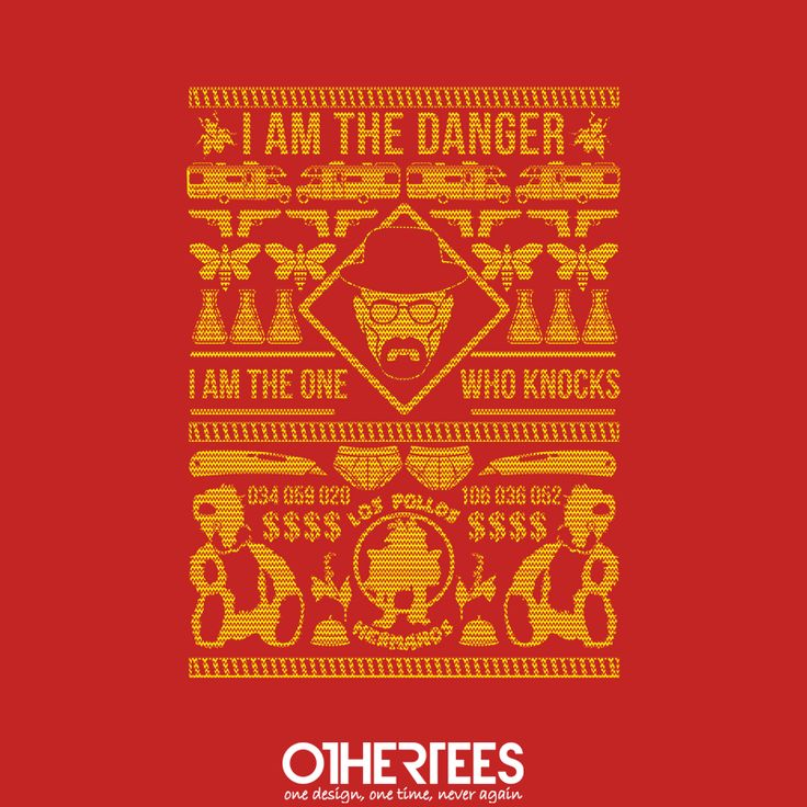 """Breaking X-Mas"" by TomTrager T-shirts, Tank Tops, Sweatshirts and Hoodies are on sale until 15th November at www.OtherTees.com  Check out our Holiday Fest ! We've got five Christmas designs on sale at our shop! Pin it for a chance at a FREE TEE #breakingbad #othertees #x-mas #walterwhite #heisenberg #tomtrager"