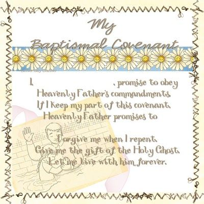 Baptismal covenant - Your Promise