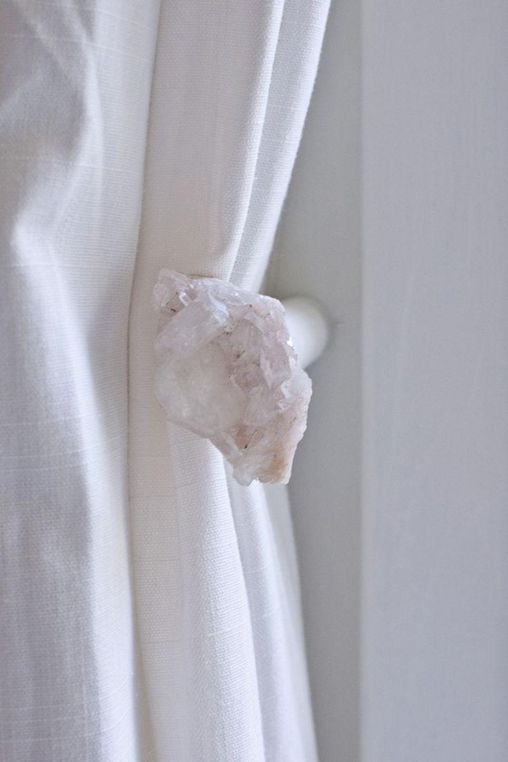 DIY Crystal Curtain Holdbacks
