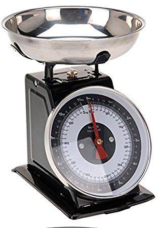 Amazon.de: Retro Küchenwaage 5 kg (Schwarz). 94 zł