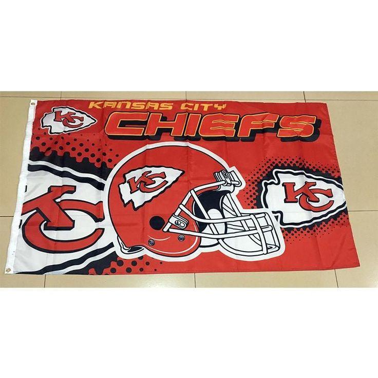 Kansas City Chiefs 3ft*5ft (90*150cm) Size Decoration Flag – Best Funny Store