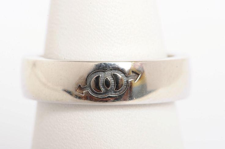 """Anello fedina in argento 925 rodiato con inciso simbolo Amore """"Uomo-donna&#8221 Questo prodotto è un'esclusiva FerrarisJewels.it"""
