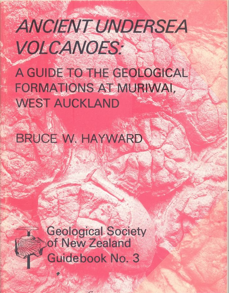 'Ancient Undersea Volcanoes - Guide to the geological formations at Muriwai, West Auckland' by Bruce Hayward. Waitakere volcano. Pillow lava.