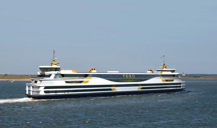 Impressie van de nieuwe Texelstroom. Behoort bij de beste 10 gebouwde passagiersschepen in 2015