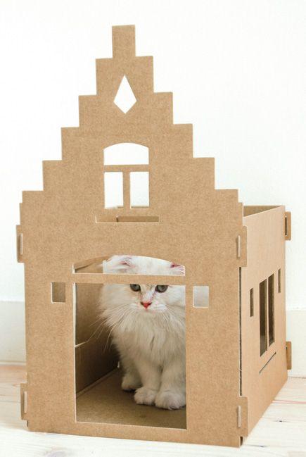 Nieuw van KEK Amsterdam: Kattenpandjes van Karton - Mighty Mansion http://www.kekamsterdam.nl/