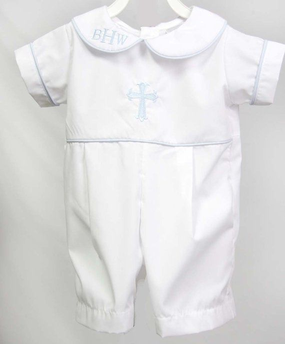 cf535d1242 Baby Boy Baptism Outfit with Cross