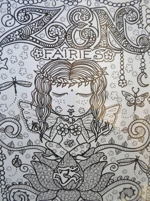 ZEN FAiRiEs Cute Coloring Book
