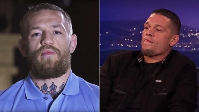 Nate Diaz works things out with Justin Bieber, looks forward to UFC rematch with Conor McGregor during interview on Conan.