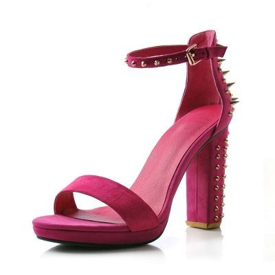 Hot Rivet Sheepskin Sandal [FABI0223]- US$ 111.99 - PersunMall.com
