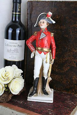 Napoleon Military Officer Soldier Porcelain figurine Italian 1960