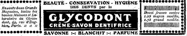 Autre exemple de nom de produit cool : le #Glycodont. Moi je vois un dinosaure avec une dentition exceptionnelle