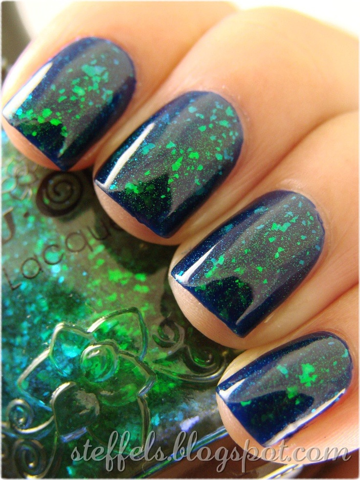 One coat of Nfu-Oh 56 over Revlon Royal: Nails Art, Seahawks Nails, Nails Design, Blue Green, Glitter Nails, Nails Polish, Mermaids Nails, Long Nails, Green Nails