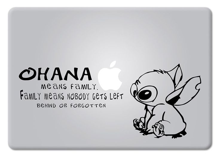 Here are the best prices for stitch quote ohana family experiment 626 lilo stitch apple macbook decal vinyl sticker apple mac air pro retina laptop