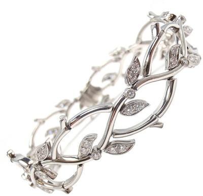 TIFFANY & CO. Diamond Platinum Bracelet 'Garland Collection' - Polyvore