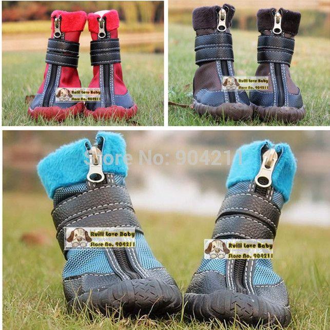 2016 в продаже маленьких собак водонепроницаемый снег обувь собак pet повседневная спортивные ботинки сацума овчарка щенок обувь для собак бесплатная доставка подарки