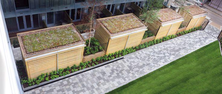 Queens Park Place South Kilburn Sedum Roof Cycle