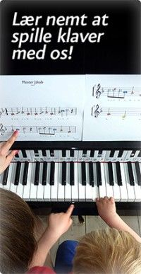 Lær at spille klaver på en nem og sjov måde med ikoner som klavernoder. Lær at spille klaver, klavernoder — Klaverleg.dk