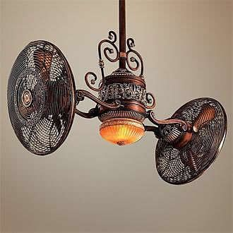 This isn't DIY, but I LOVE this antique ceiling fan!!!!!