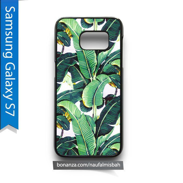 Green Tropical Leaf Print Samsung Galaxy S7 Case Cover