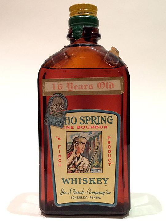 Echo Spring, Distilled 1917, 16 Years Old Ohio bourbon?! It may seem unusual now -- but this juice from the Clifton Springs Distillery in Cincinnati wasn't unusual for its time. Before Prohibition came in and ruined everything, distilleries flourished in Ohio, with 81 in Cincinnati alone. | Medicinal Whiskey from Prohibition | LA Whiskey Society