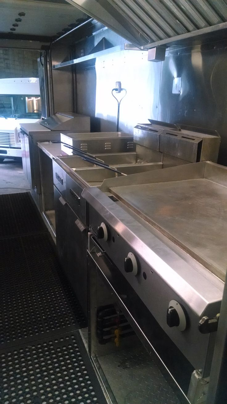 Uncategorized Food Truck Kitchen Design best 25 food truck interior ideas on pinterest mobile cafe refrigerated sandwich prep table custom steam with work top double fryer and flat grill design the of