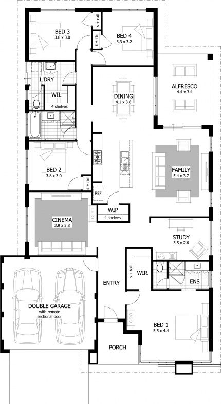 Empire Floor Plan - The Empire is a spacious 15 metre home design that offers the perfect blend of style, functionality and value for money.