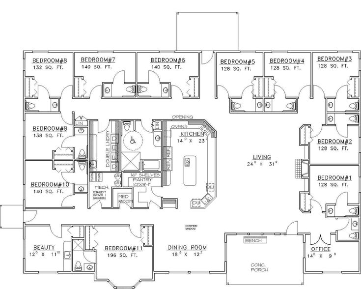 165 best images about houseplans on pinterest house - Bed and breakfast design floor plans ...