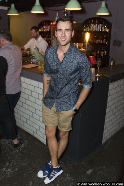 Matthew Lewis at Unfaithful play's press night/after party on 31st August 2016. Photos by Dan Wooller.